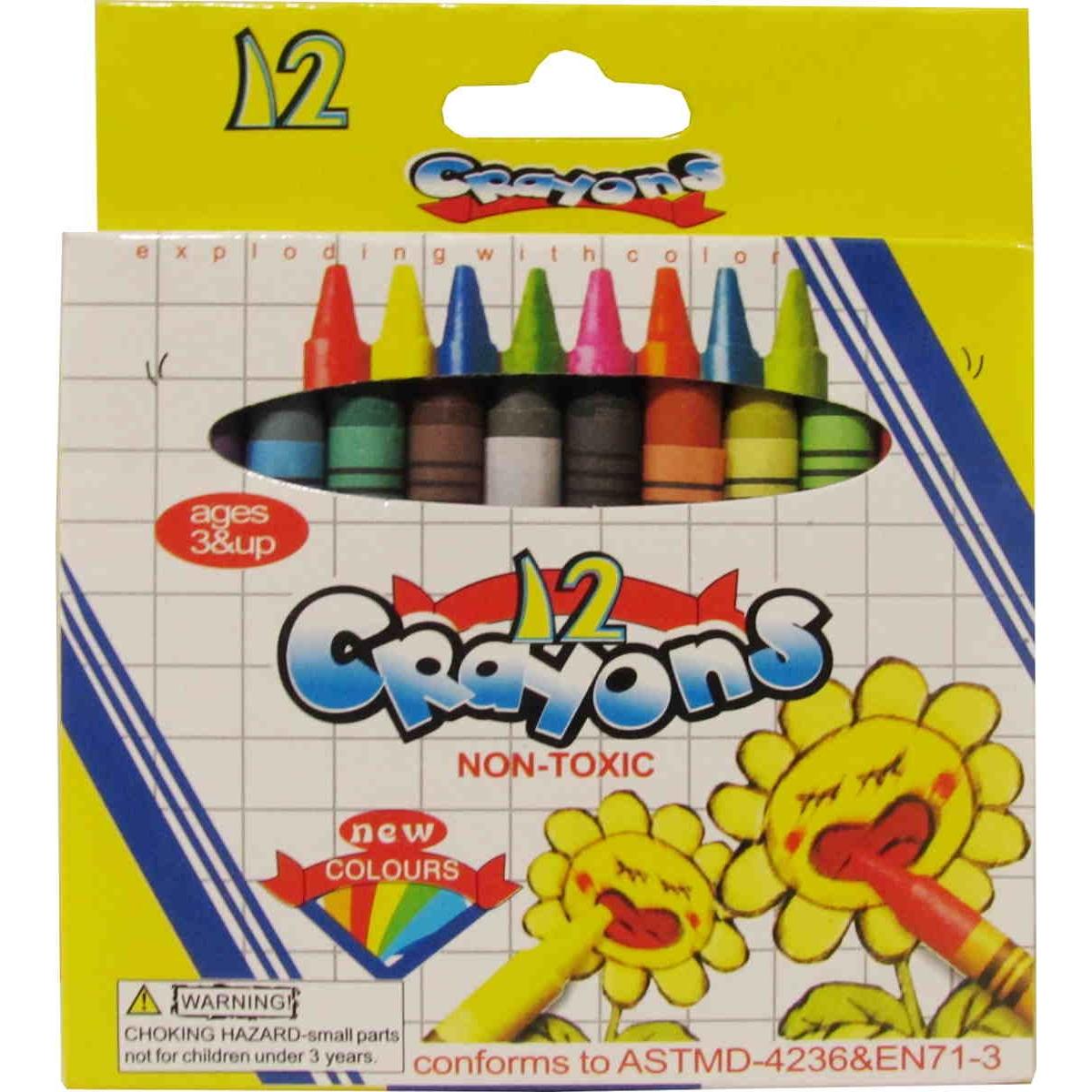 Crayones para colorear x 12 Colores-Distribuidora Romero